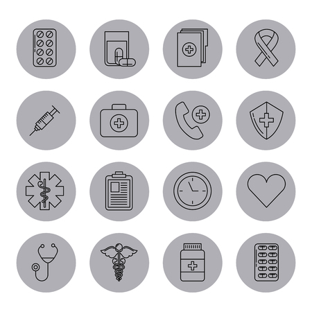 assorted healthcare related icons image vector illustration design