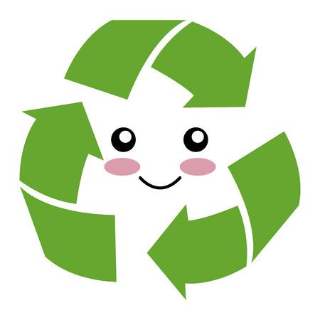 pijlen recycleren karakter ecologie symbool vector illustratie ontwerp