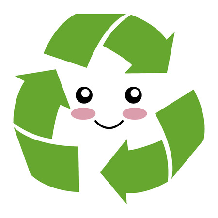 arrows recycle character ecology symbol vector illustration design