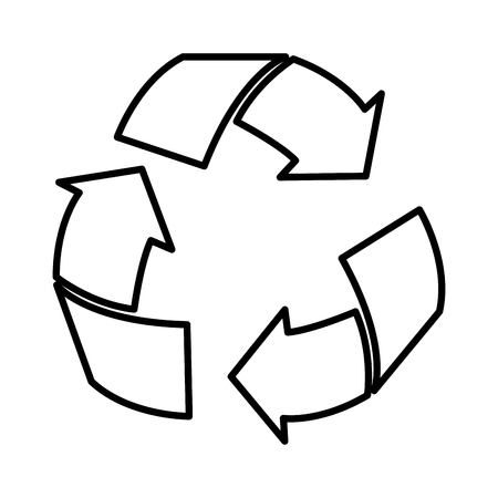 arrows recycle ecology symbol vector illustration design