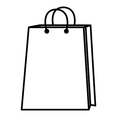 shopping paper bag icon vector illustration design Illustration