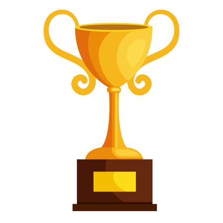 victor: trophy cup isolated icon vector illustration design Stock Photo