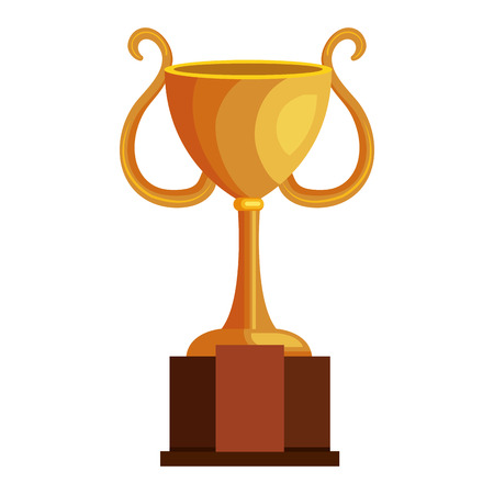 victor: trophy cup isolated icon vector illustration design Illustration