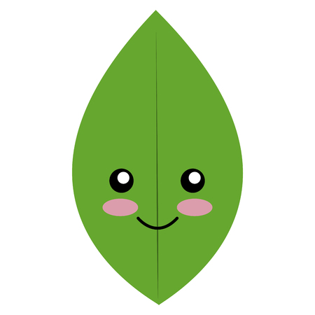 leafs plant character ecology icon vector illustration design Stock Photo