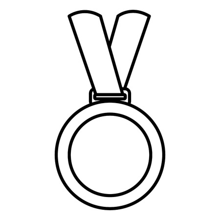 Championship medals isolated icon vector illustration design