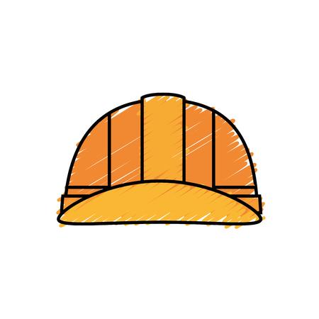 safety helmet icon over white background. vector illustration Stock Photo