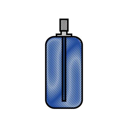 白い背景上のスプレー ボトル アイコン。ベクトル図 写真素材