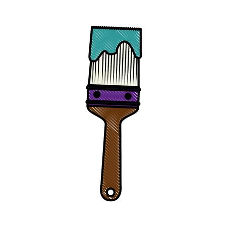 paint brush icon over white background. vector illustration