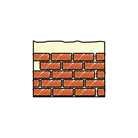 bricks wall icon over white background. vector illustration Stock Vector - 77713492