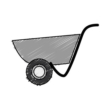 Icône de l'outil wheelbarrol sur fond blanc. illustration vectorielle Banque d'images - 77713493