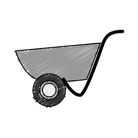 wheelbarrol tool icon over white background. vector illustration 向量圖像