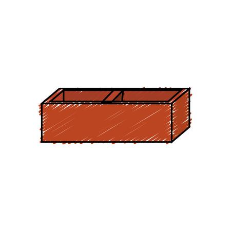 brick icon over white background. vector illustration Stock Vector - 77713544