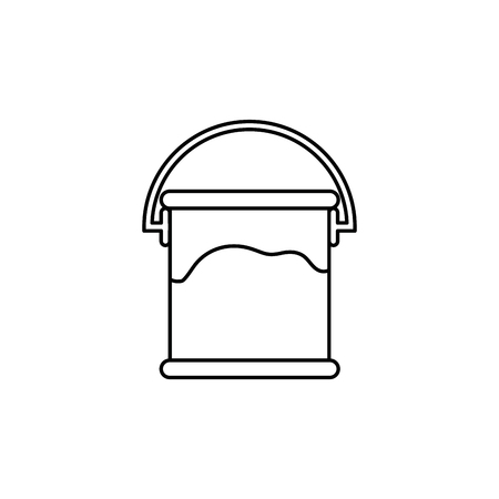 paint bucket icon over white background. vector illustration