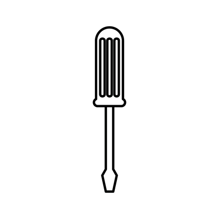 screwdriver tool icon over white background. vector illustration