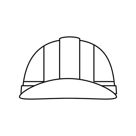 safety helmet icon over white background. vector illustration Illustration