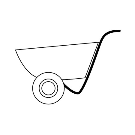 wheelbarrol tool icon over white background. vector illustration Illustration