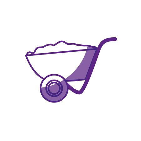 wheelbarrol tool icon over white background. vector illustration 版權商用圖片 - 77713908