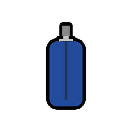 spray bottle icon over white background. vector illustration Banco de Imagens