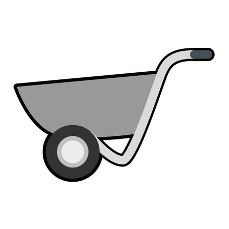 wheelbarrow tool icon over white background. vector illustration 向量圖像