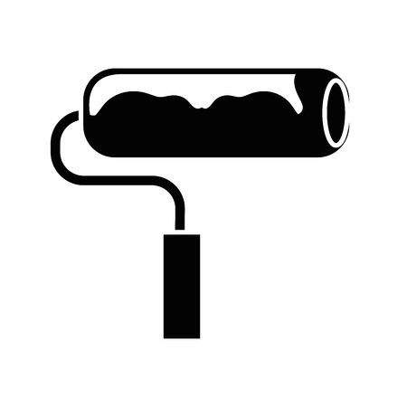 paint roll icon over white background. vector illustration