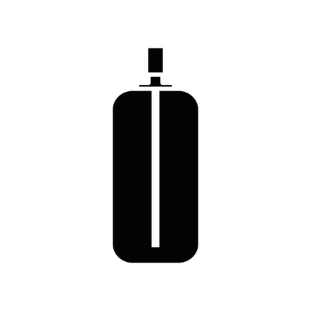 spray bottle icon over white background. vector illustration Ilustração