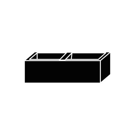 brick icon over white background. vector illustration Illustration