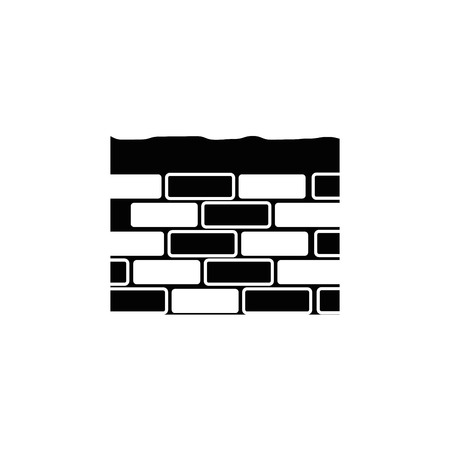 bricks wall icon over white background. vector illustration Stock Vector - 77714465
