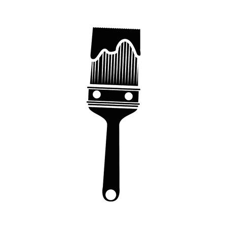 paint brush icon over white background. vector illustration Stock Vector - 77714466