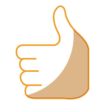 businessman hand like symbol vector illustration design