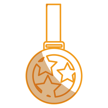 Championship medal isolated icon vector illustration design Illustration