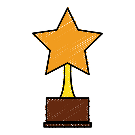 hollywood star: trophy star isolated icon vector illustration design
