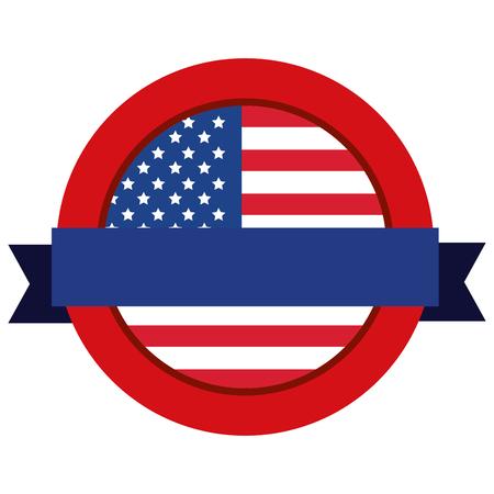united states of america emblematic seal vector illustration design Illustration
