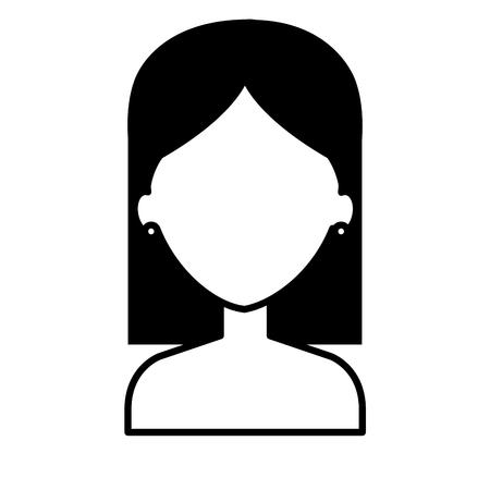 Jeune femme avatar torse nu caractère vector illustration design Banque d'images - 77773198