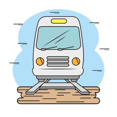 Subway and railroad icon over white background. Vector illustration.