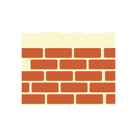 Construction brick isolated icon vector illustration graphic design Illustration