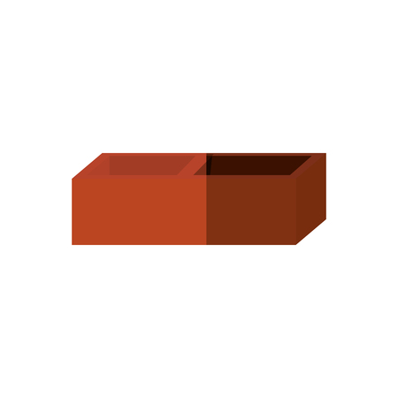 Construction brick isolated icon vector illustration graphic design Illustration