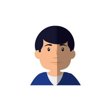 Man cute cartoon icon vector illustration graphic design