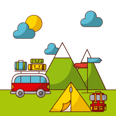 camping related icons image vector illustration design