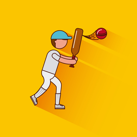 gym equipment: cricket sports or exercise imagevector illustration design