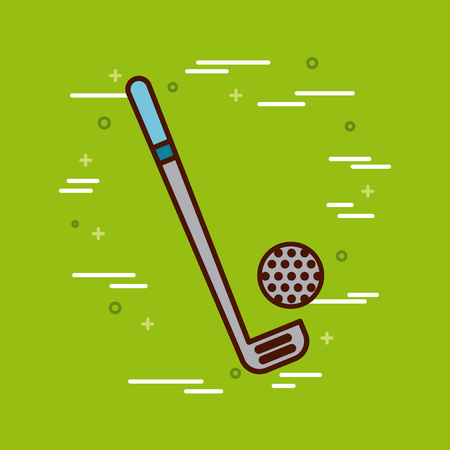 gym equipment: golf sports or exercise imagevector illustration design