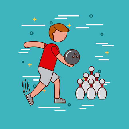 Bowling sports or exercise image vector illustration design Illustration