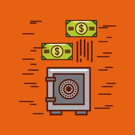 Safe box money or economy related image vector illustration design