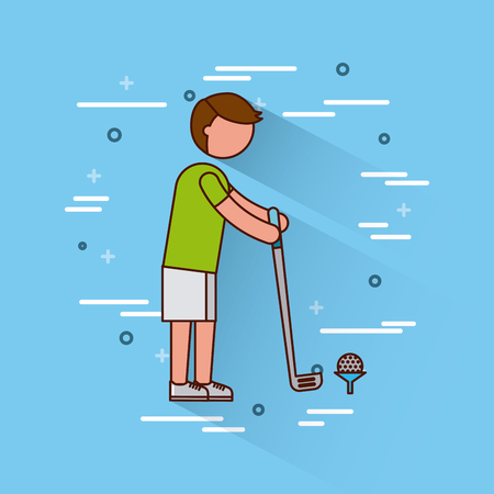 golf sports or exercise imagevector illustration design