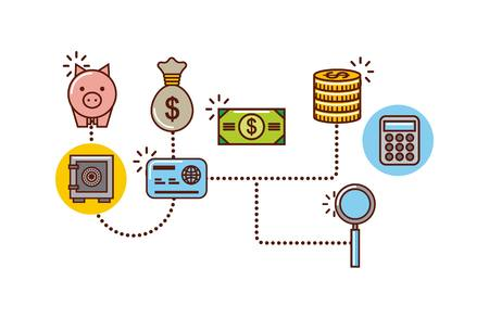 infographic money or economy related image vector illustration design