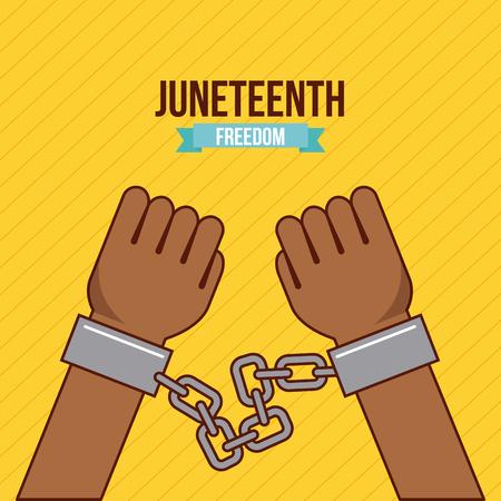 juneteenth freedom day  stop racism image vector illustration design