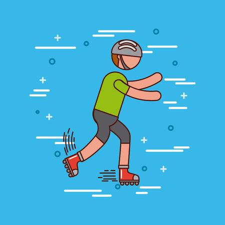 deportes del patinaje sobre ruedas o diseño del ejemplo del imagevector del ejercicio