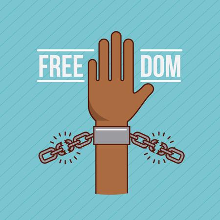 Liberté arrête racisme image vecteur illustration design Banque d'images - 77778225