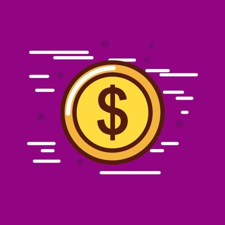 cash money or economy related image vector illustration design