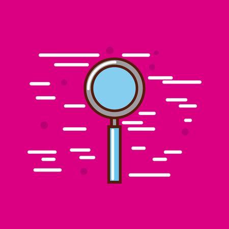 magnifying glass poster image vector illustration design Illustration