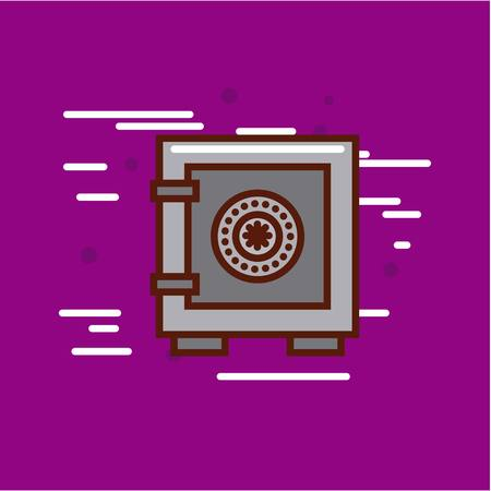 safe box money or economy related image vector illustration design